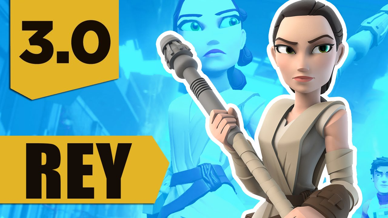 disney infinity 30 rey gameplay and skills max level