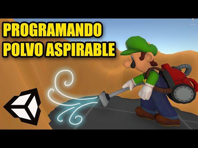 Recreando POLVO aspirable de Luigi's Mansion