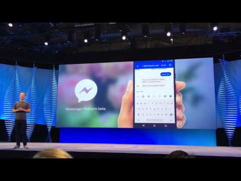 Mark Zuckerberg Demos Facebook Messenger Platform for Brands