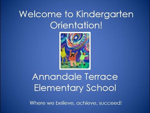 2020 Kindergarten Orientation Video - Annandale Terrace Elementary School
