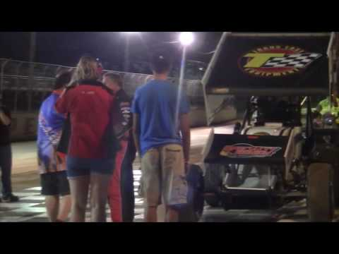 Port Royal Speedway 410 Sprint Car Highlights 8-06-16