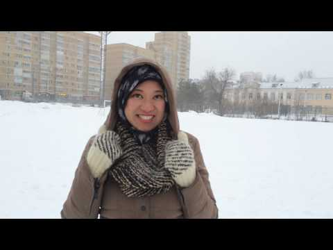 Lovely field of snow in Kazan. March 2016