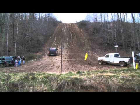 Stock 4x4 Chevrolet Tahoe climbing Horsepower Hill and Ford F150 showing him up WITC New Years Ride