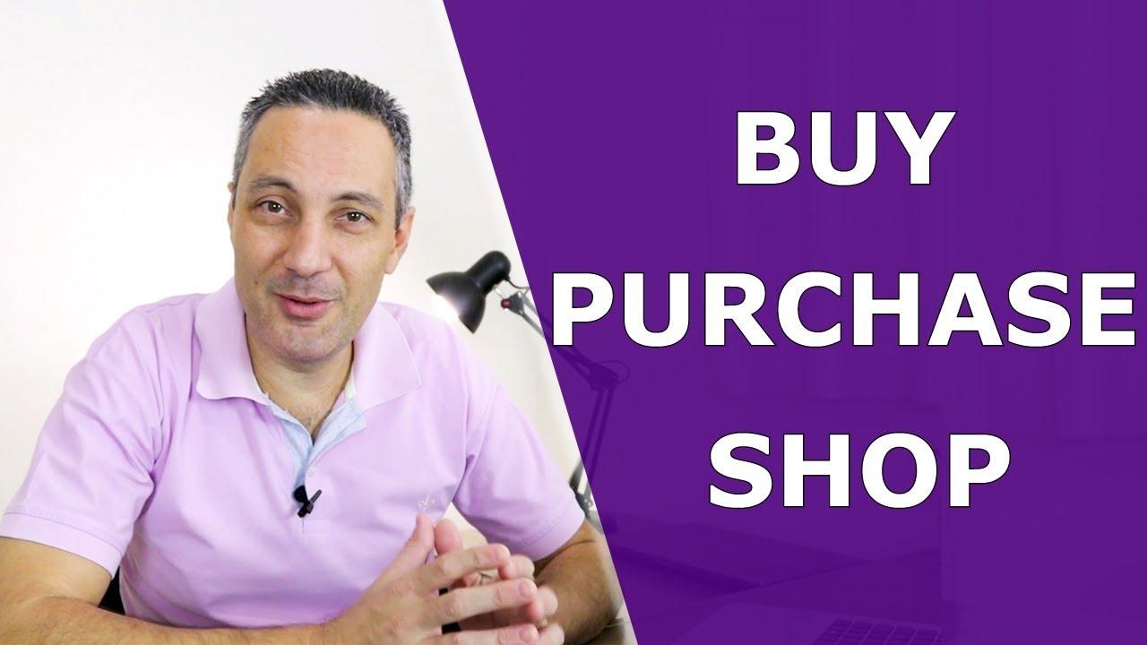 Download Diferença entre BUY x SHOP x PURCHASE | Como falar COMPRAR em inglês