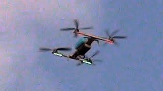 Полет квадрокоптера на трех моторах - система спасения БПЛА.(, 2015-01-24T02:19:41.000Z)