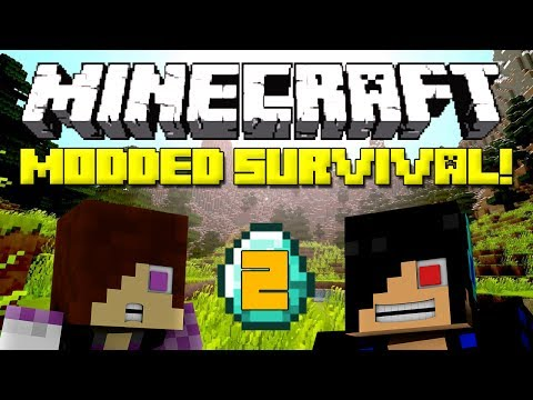 Minecraft: Modded Survival Let's Play - Episode 2: Shaders Mod is Amazing