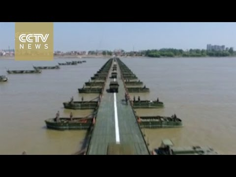 Watch: China's PLA finishes bridging work over Yangtze River in 26 minutes