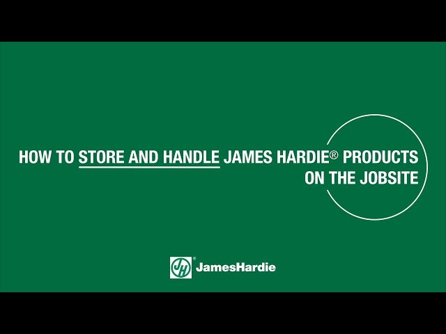 How to Store and Handle James Hardie® Products on the Jobsite - HardieShingle