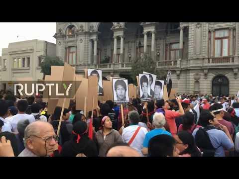 LIVE Protest against pardon for former Peruvian President Alberto Fujimori