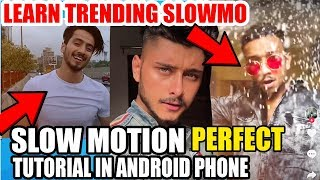 SLOW MOTION TRENDING TIK TOK TUTORIAL ! How To Make TikTok Trending Slow Fast Videos On Android