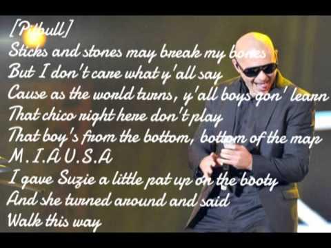 Lyrics Fireball from Pitbull and John Ryan subscri