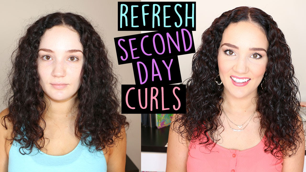 Second Day Curly Hairstyles Quick Cheap Second Day Curly Hair Routine Youtube