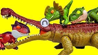쥬라기월드 공룡 스냅스쿼드 장난감 타요차고지 공룡놀이 …