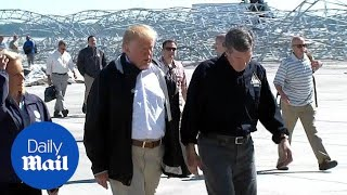 Trump touches down in North Carolina after Hurricane Florence