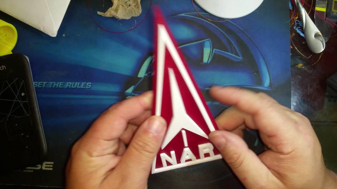 Today's 3D Print - 3D NAR National Association of Rocketry Logo