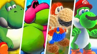 Evolution of Yoshi Characters in Super Mario Games (1990 - 2019)