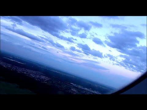 Sun Set Take off from Frankfurt Airport
