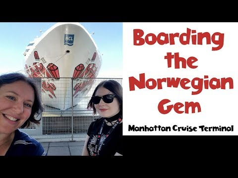 Boarding the Norwegian Gem Cruise Ship!! NYC Land & Sea Cruise Vlog Day 8  [ep16]