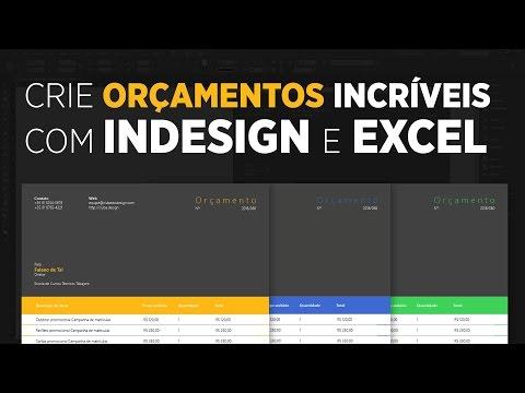 Crie orçamentos incríveis com InDesign e Excel