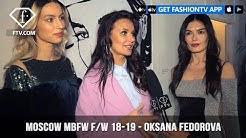 Oksana Fedorova Moscow Mercedes Benz Fashion Week Fall/Winter 2018-19 | FashionTV | FTV