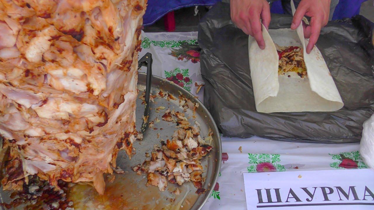 Azerbaijan Street Food  Huge Chicken Shawarma, Sheep Skewers and More Seen  in Minsk, Belarus