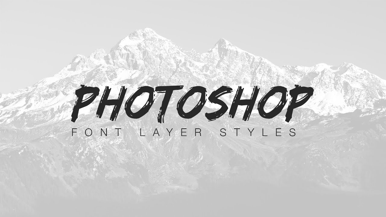 Photoshop Font Layer Styles - Part 1 - YouTube