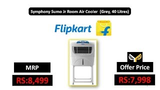 Symphony Sumo Jr Room Air Cooler (Grey, 40 Litres)
