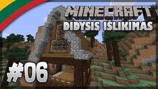 Minecraft 1.12 Didysis Išlikimas Lietuviškai #06 - NAMO STOGAS BAIGTAS!