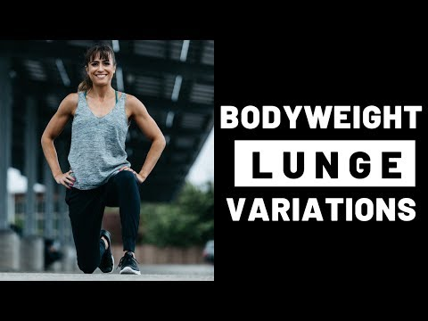 16 Bodyweight Lunge Variations