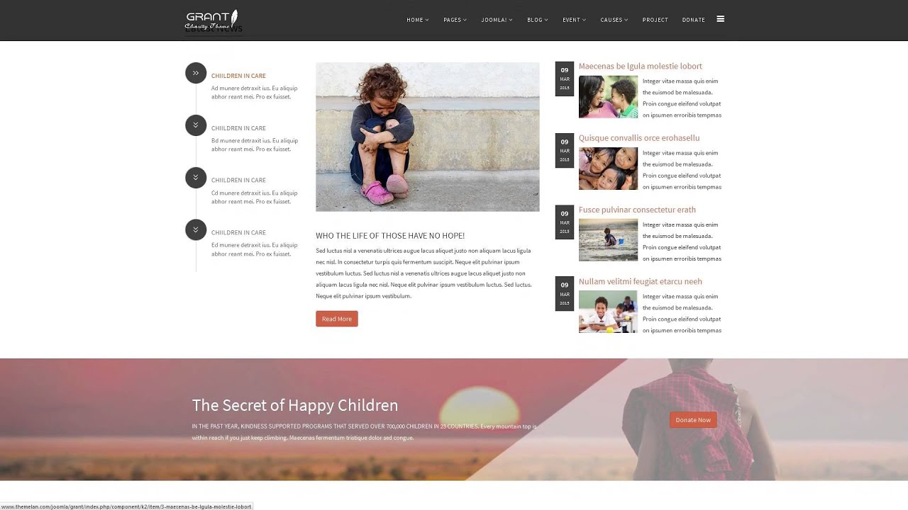 Grant   Charity Nonprofit NGO Joomla Template   YouTube  Ngo Templates