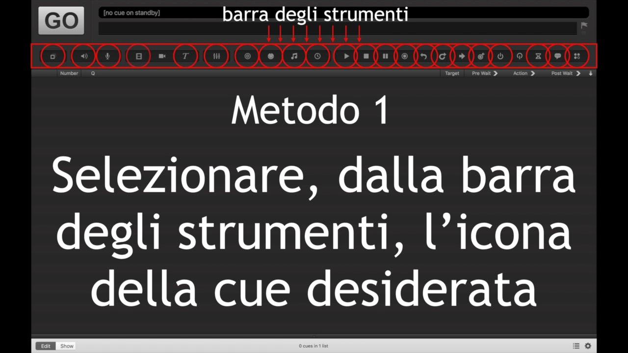Qlab 3 - Inserimento Cues - Tutorial in italiano a cura di Danilo Amato N 2