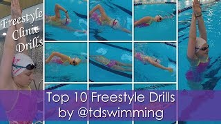 Top 10 Freestyle Drills by Coach @tdswimming - SwimLifeGuru's Dad does the voiceover!!!