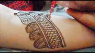 Indian Full Hand Bridal Mehendi Part 1-How To Make Bridal Henna Mehndi Design On Hand