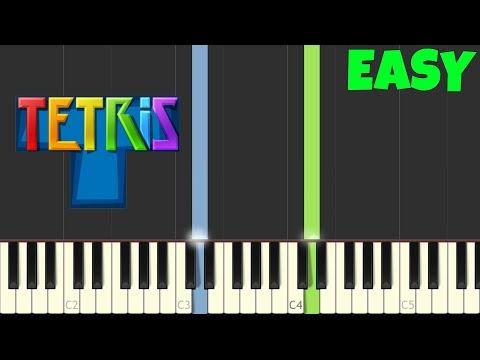 Tetris Theme - Korobeiniki - Easy Piano Tutorial (Synthesia/Sheet Music)