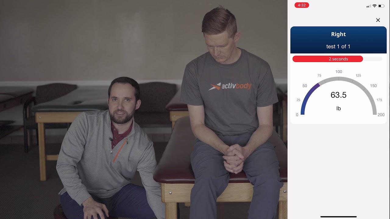 Knee Extension Strength Measurement on Activforce 2