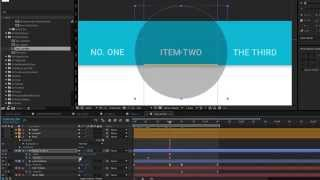 Material Design tabs - After Effects tutorial