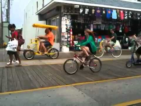 Bicycles on Wildwood NJ Boardwalk
