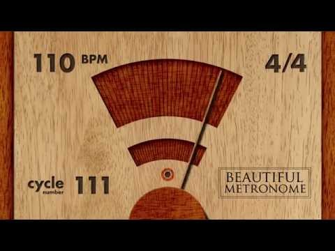 110 BPM 4/4 Wood Metronome HD