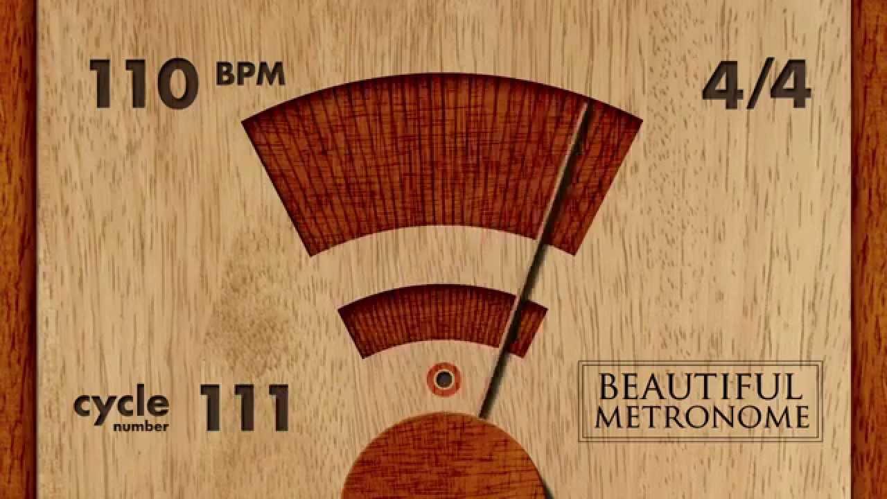 110 BPM 4/4 Wood Metronome HD
