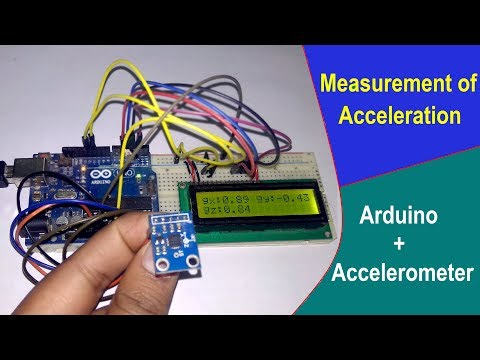 Acceleration Measurement With Accelerometer And Arduino
