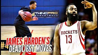 How To Be a DEADLY Scorer Like James Harden! Breaking Down His Top 5 Moves w/ ThincPro Basketball!