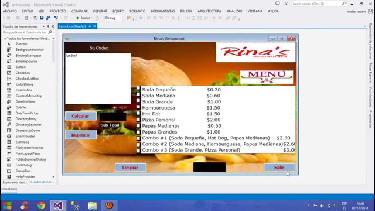 Como hacer un sistema para restaurante facil y rapido en for Como disenar un restaurante