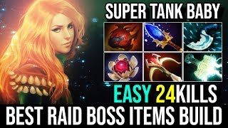 super Tanky [Windranger] Best New Build Raid Boss With Heart of Tarrasque 24Kills By Funn1k | DotA 2