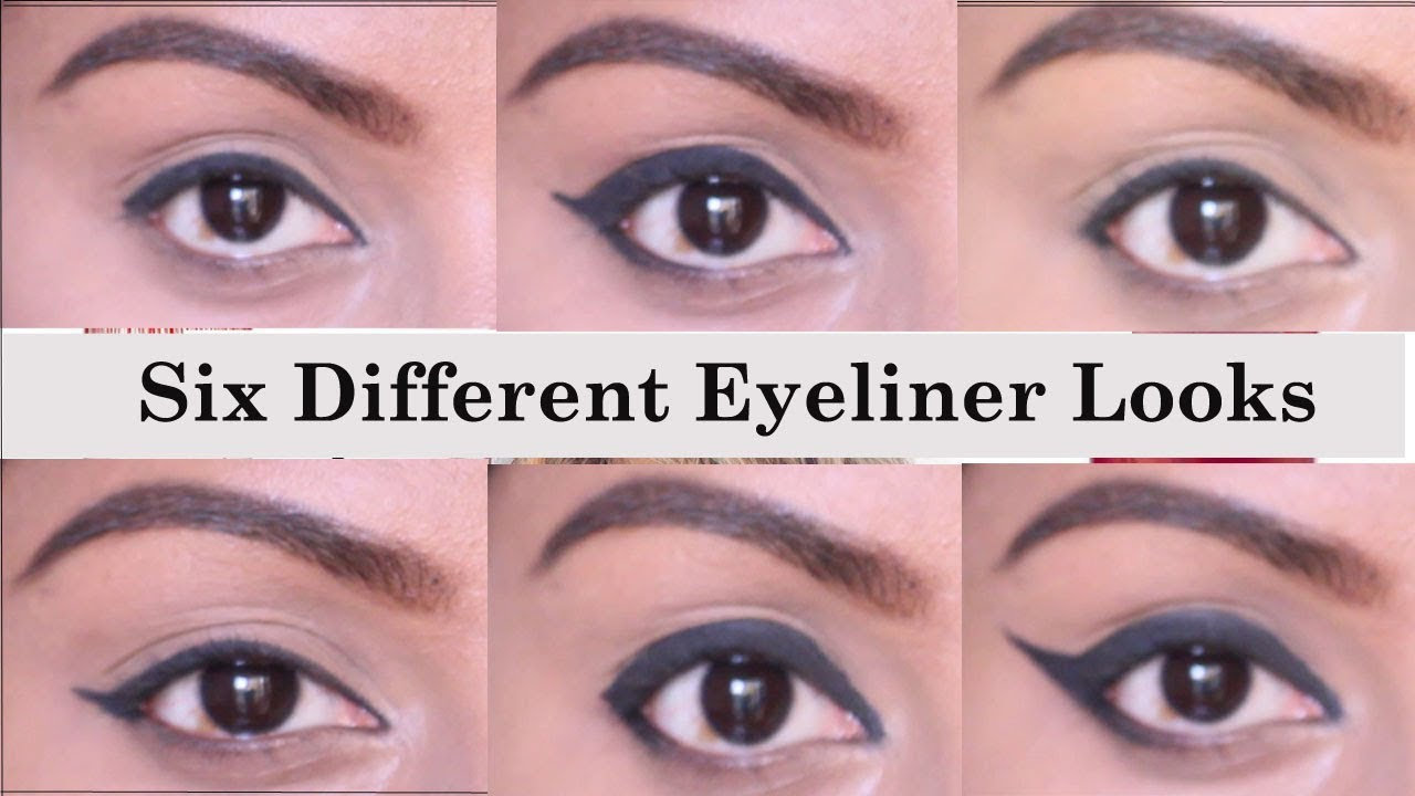 How to apply eyeliner in different ways in tamil 6 different ways to apply kajal