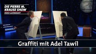 Graffiti mit Adel Tawil
