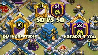 Great Great BD Indomitable War 50vs50 | Best TH12 vs TH12 War Attack 2019 | Clash Of Clans