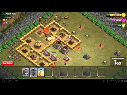 Clash of Clans Point Man 3 Star Campaign Guide - TH6
