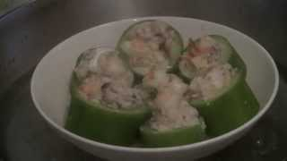 Chinese Melon Rings Stuffed With Pork And Prawns  (traditional Chinese Cooking)