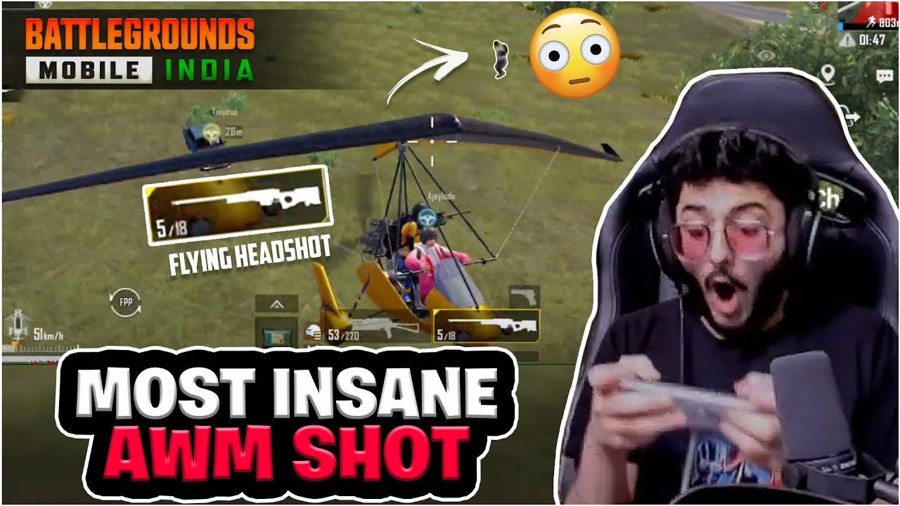 MOST INSANE FLYING AWM SHOT ( BGMI IS BACK!)