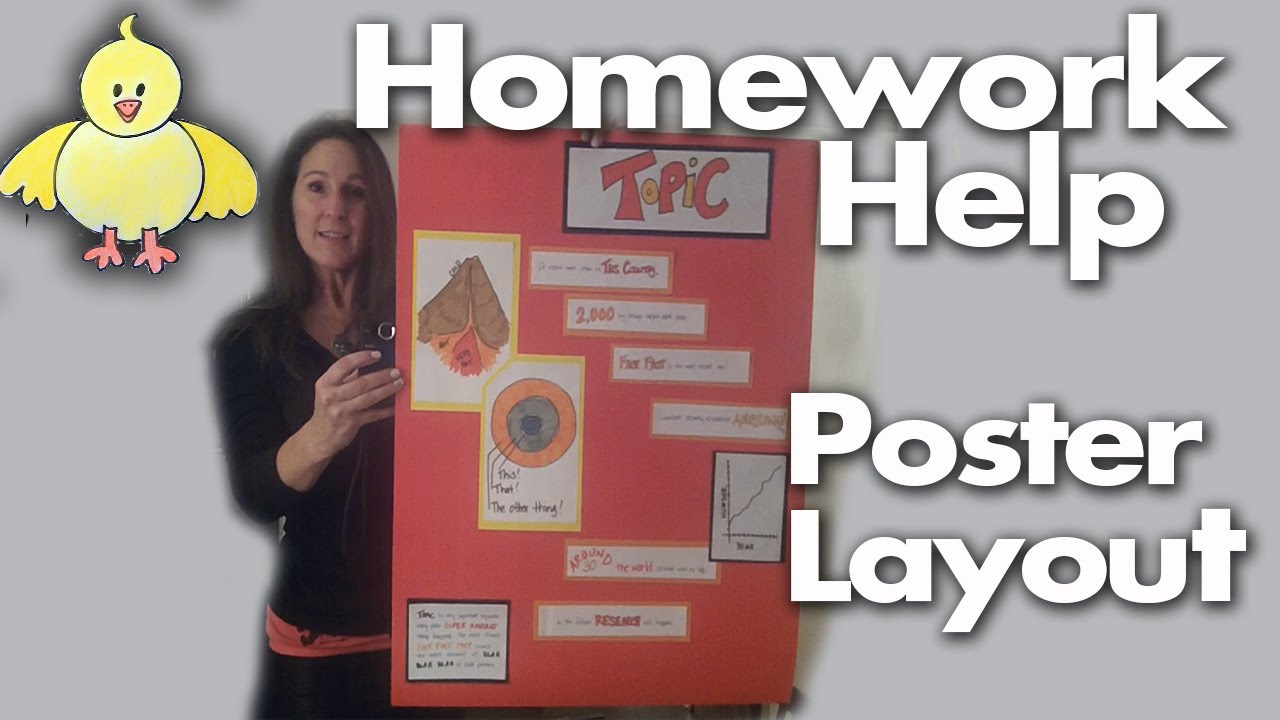 homework help how to design create and layout a poster project